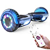 NEOMOTION Hoverboard 6.5 Overboard con Bluetooth Patinete Scooter Eléctrico con Ruedas Intermitentes LED Flash Juguete y Regalo para Niños