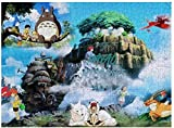 Rompecabezas Puzzles Hayao-Miyazaki Ghibl-i Anime (8) Wooden Jigsaw Puzzle 500 Pieces Intellectual Education Game for Adults Child Kids Gift Toys Artwork Home Decor