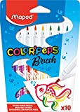 Maped Color' Peps Brush - Pack de 10 rotuladores, punta pincel