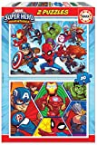 Educa - Marvel Super Heroe Adventures Puzzles, 2x20 Piezas, Multicolor (18648)