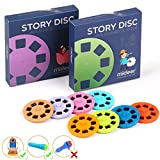 PROACC Story Disc 8 Fairy Tales Movies 64 Diapositivas para Story Projection Torch Story Film Replacement para niños Sleep Story Projector Bedtime Story Toy para niños y niñaste Regalo para Niños