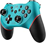 Diswoe Mando Compatible para Nintendo Switch, Wireless Bluetooth Pro Controller Controlador Inalámbrico con Función Gyro Axis/Dual Shock y Turbo Mando Inalámbrico Compatible con Nintendo Switch/Lite