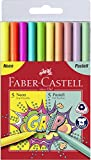 Faber-Castell 155312 - Pack 5 rotuladores Grip neon + 5 rotuladores grip pastel.