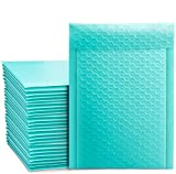 Switory 50pcs A5 15,3cm×26,9cm Poly Bubble Mailers Sobres auto-sellados acolchados Bubble Lined Poly Mailer Teal para embalaje verde