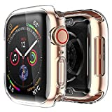 [2 pack] Funda Apple Watch 44mm Series SE 6 5 4, Protector Pantalla iWatch case Protección Completo Anti-Rasguños Ultra Transparente Funda Suave TPU, para Nueva Apple Watch Series SE 6 5 4 44mm