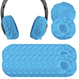 Geekria 100Pairs Cubierta de Auriculares MDRZX100, ZX300, ZX310, AKG K840, Q460, K420, K450 and More Small Size, Protectores Sanitarios Desechables para Auriculares(Azul)
