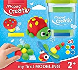 Maped Creativ My First Juego de Plastilina, color rojo, azul, verde, amarillo (M907200) , color/modelo surtido