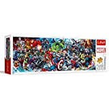 Trefl- Puzzles 1000 Panorama Marvel Puzzels, Color Coloreado (29047)