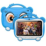 Tablet Para Niños 7 Pulgadas Tablet Infantil Android 10.0 Quad-Core Processor, 16GB ROM 128GB Expansión, HD Pantalla1024*600 Doble Camera(0.3MP+2MP)Wifi,GPS,Certificación Google,Juegos Educativos-Azul