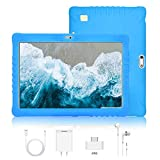 Tablet 10 Pulgadas 4G Full HD 3GB de RAM 32GB/128GB de ROM Android 9.0 Certificado por Google GMS Quad Core Tableta Batería de 8500mAh Dual SIM 8MP Cámara Tablet PC Netfilx WiFi Bluetooth OTG(Azul)