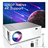 Bomaker Full HD 1080P Nativo Proyector con 7200 Brillo, Soporta 4K, 6D Keystone 50+Zoom out, Compatible with TV Stick, Android, iOS, HDMI, Parrot I