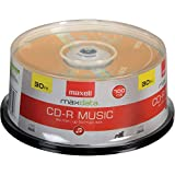 Maxell 625335 CDR-80 MUSIC GOLD CD Recordable Discs 32X 700MB 80 Min 30 Pack