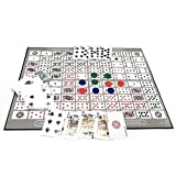 Ecisi Big Chess Board Game Table Game Pattern Patrón Deluxe Sequence Tin (inglés y árabe) Family Board-Game, Sequence Game Chess Family Game Toy