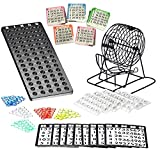 Bingo Lotto Numbers Machine Game made of metal | 75 bowls | 500 Bingo cards | 150 Bingo chips | event board included