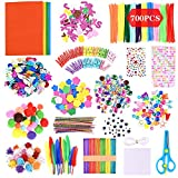 GOLDGE 700pz Kit de Manualidades para niños, Pipe Cleaners Crafts Set Pompones Ojos Manualidades Kit Crafts Set y Pipe Cheners para DIY Art Supplies Creativo Regalo Manualidades Labores para Niños